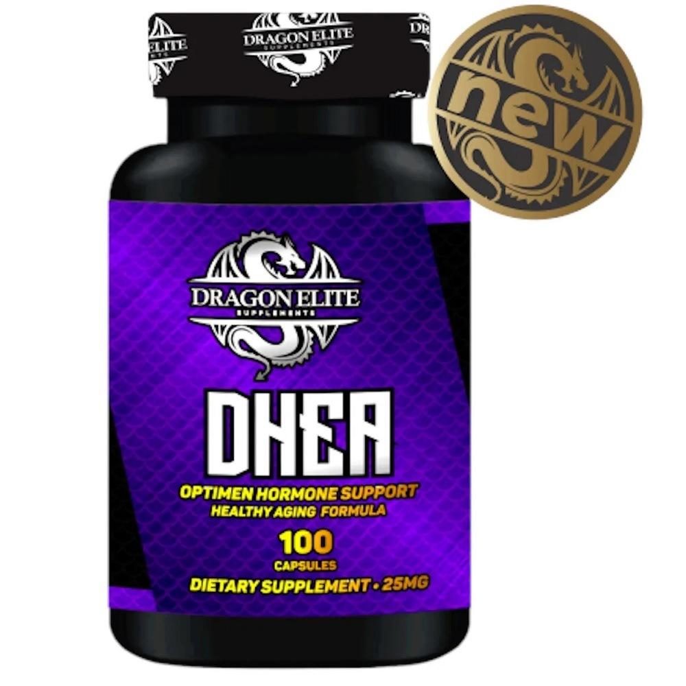 DHEA 25 mg 100 Cáps. Dragon Elite