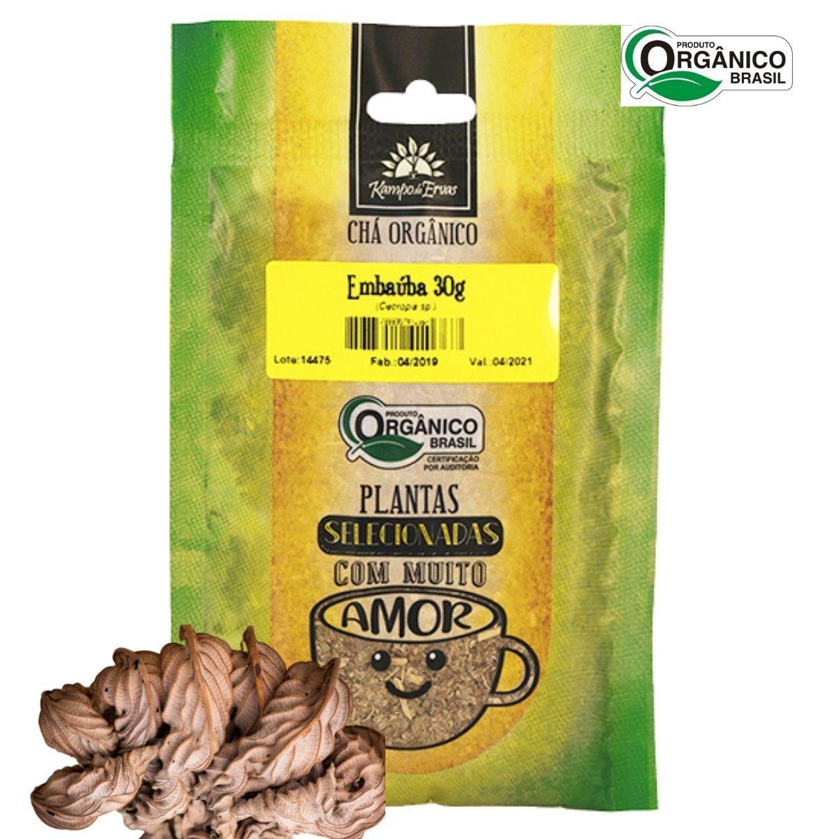 Embaúba Chá Orgânico das Folhas Kampo de Ervas 30 gramas
