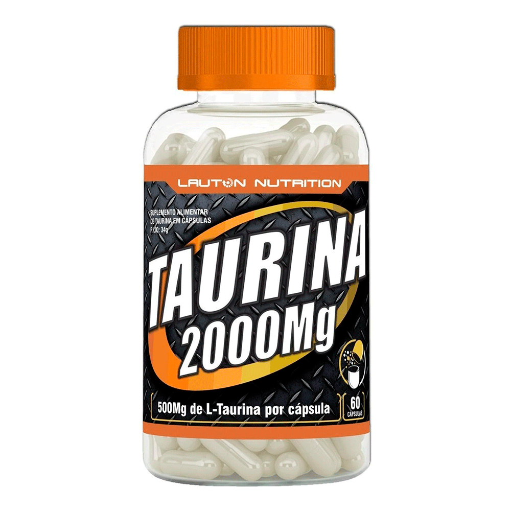 Energetico Taurina 60 Caps 2000Mg Lauton Nutrition