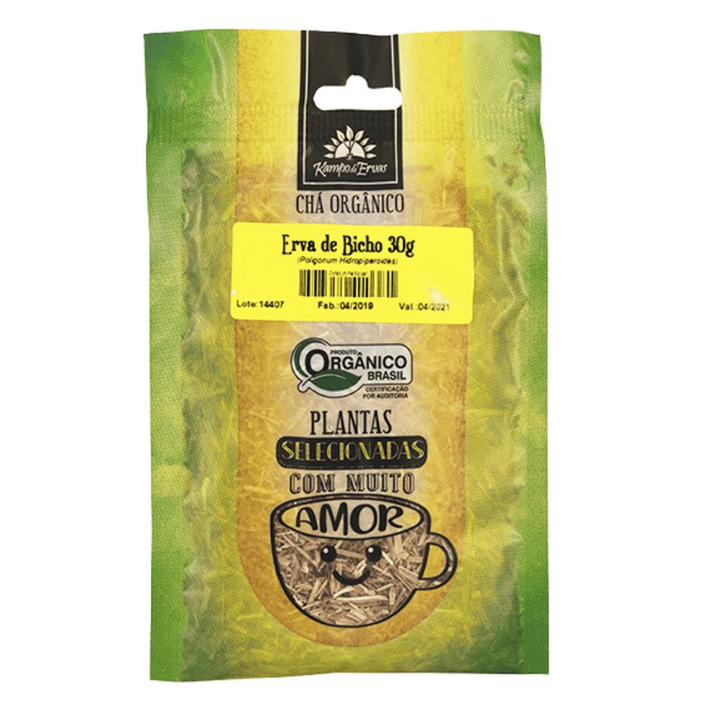 Erva de Bicho Chá Orgânico 100 % Folhas 30 g Kampo de Ervas