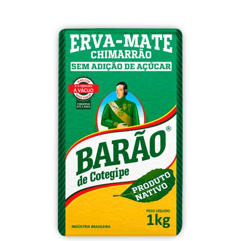 Erva Mate Nativa o melhor Chimarrão Barão de Cotegipe 1 Kg