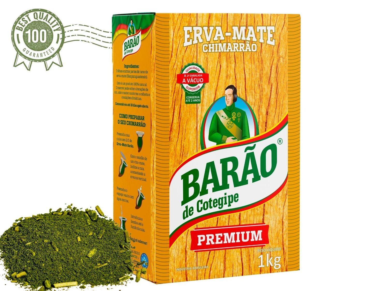 Erva Mate Premium 1 Kg a Vácuo Chimarrão Barão de Cotegipe