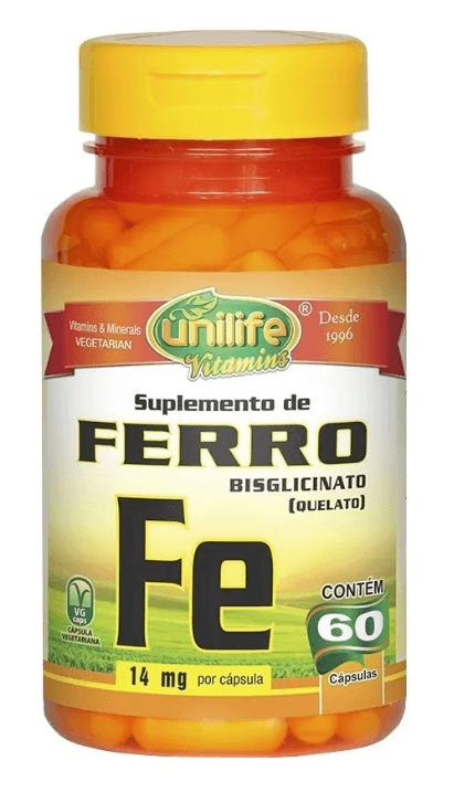 Ferro Quelato Fe 60 Cápsulas Unilife