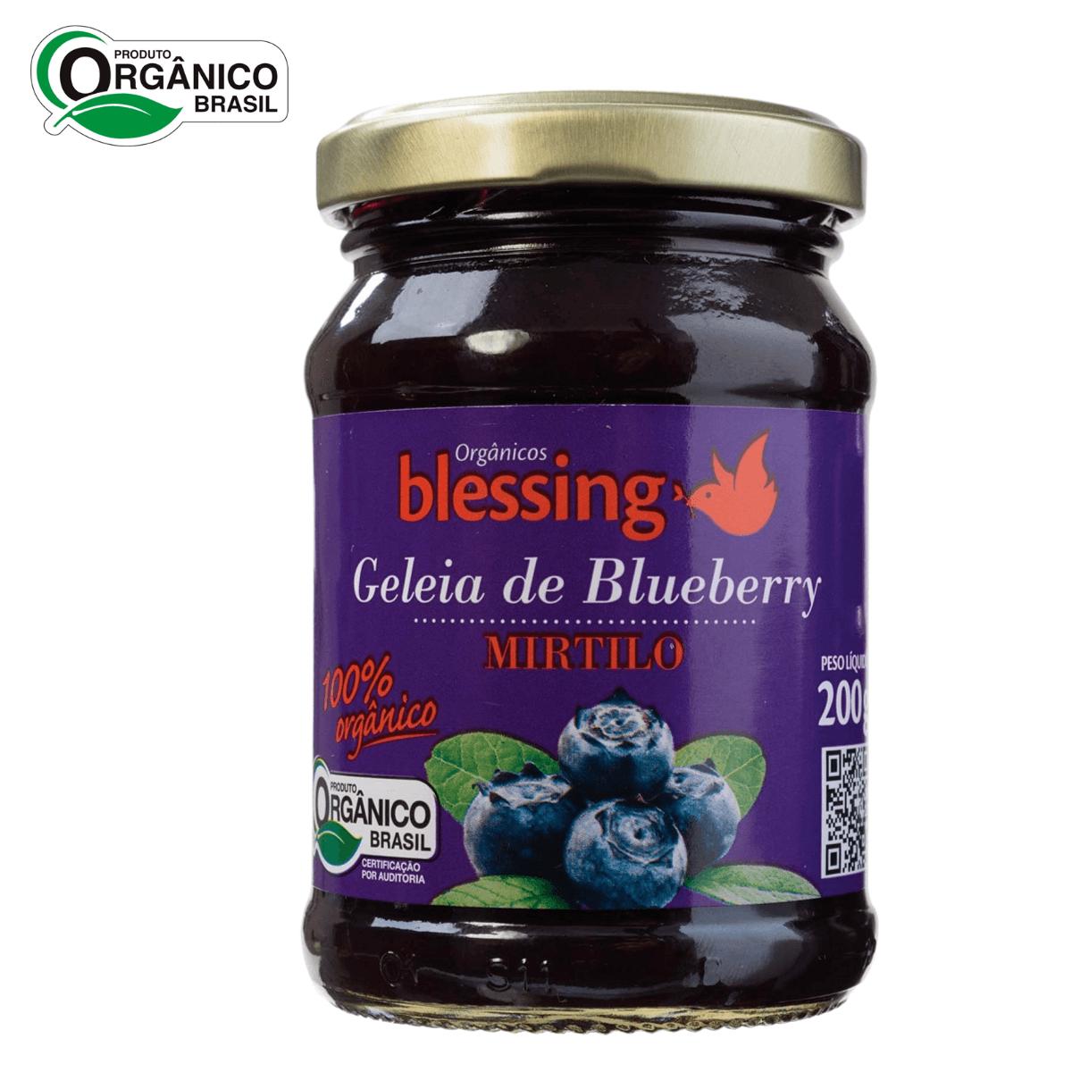 Geleia de Blueberry Mirtilo Orgânica Blessing 200gr