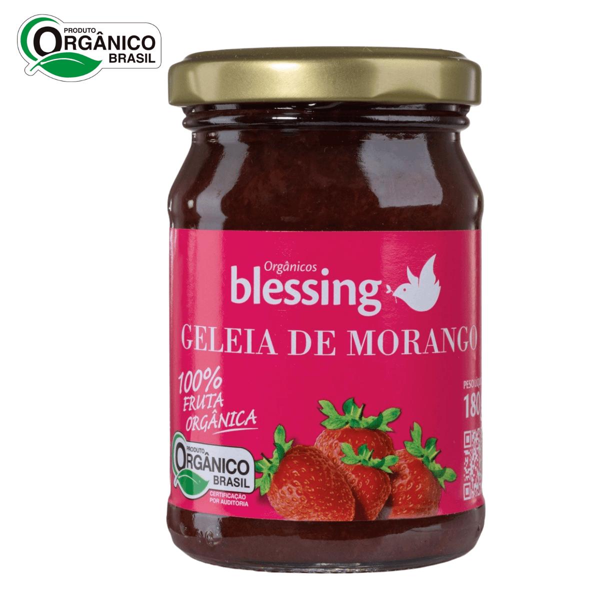 Geleia de Morango Orgânica 100% Fruta Blessing 180 gramas