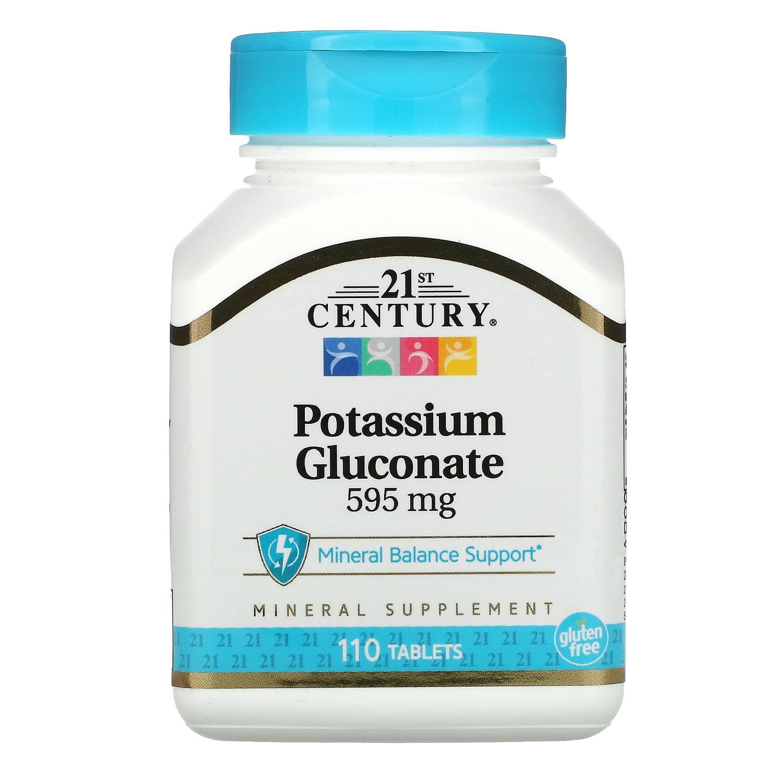 Gluconato De Potássio 110 Tablet 595mg Century Importado Eua Regula niveis de açucar no sague