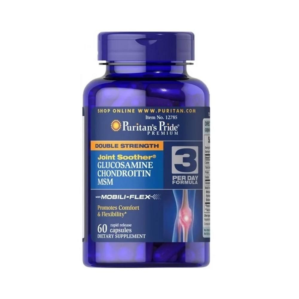 Glucosamina Condroitina MSM 60 Comp. Puritans Pride