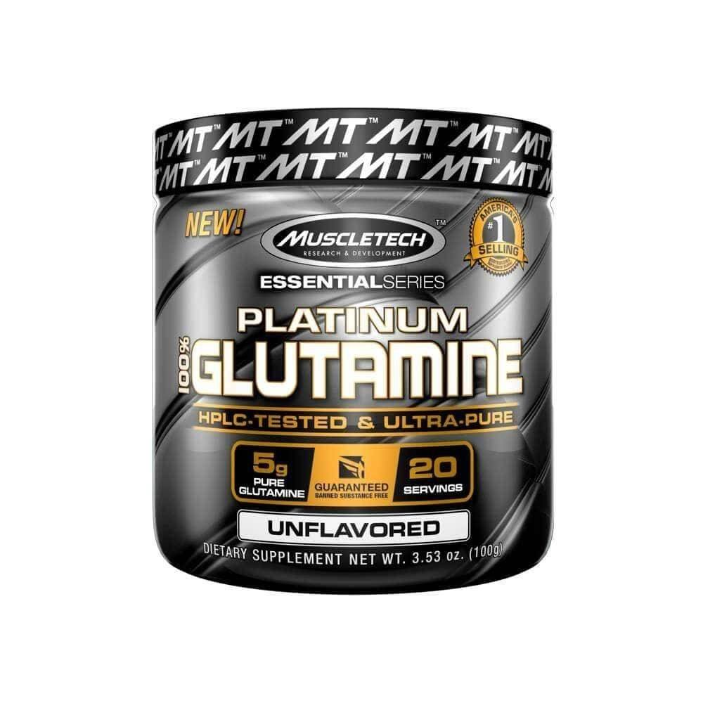 Glutamina Platinum 100% Glutamine 100G Sem Sabor Muscletech