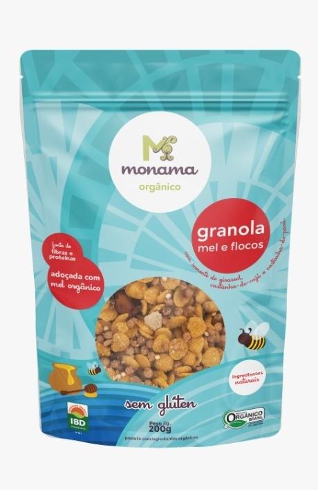 Granola Mel E Flocos 200g - Monama
