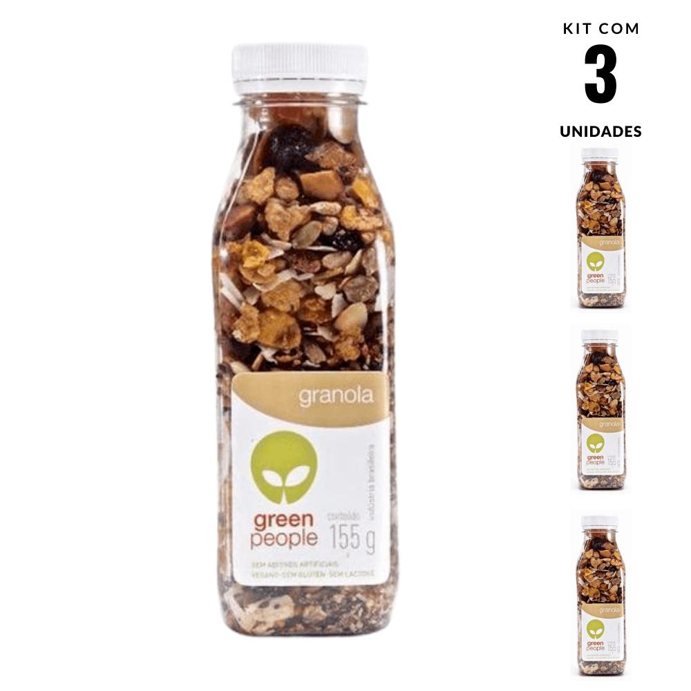 Granola Mix Crocante Cast Vegano Greenpeople 3und 155g cada