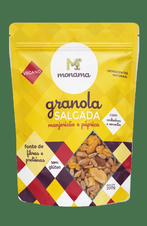 Granola Salgada Manjericão E Páprica 200g - Monama