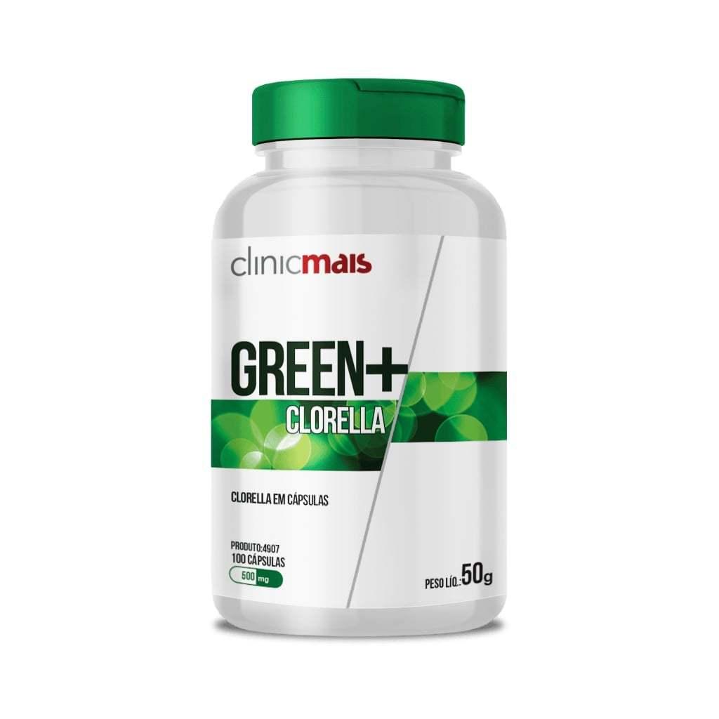 Green + Clorella 100 Cápsulas 500mg