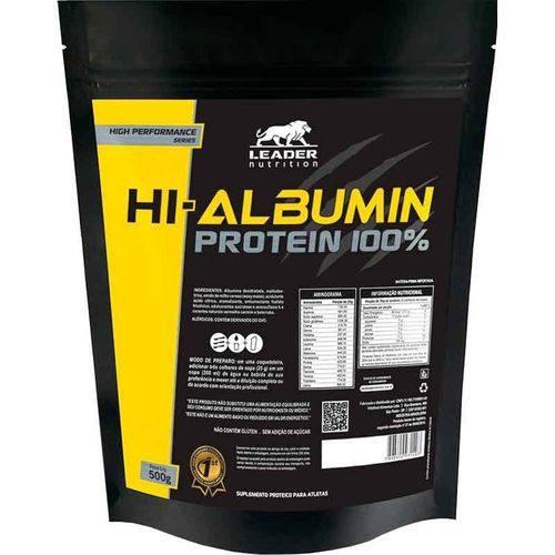 Hi-Albumin Protein 100% Pure - Sabor Chocolate - Sache 500G Leader Nutrition