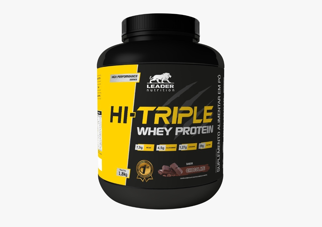 Hi-Triple Whey Protein Chocolate 1.8Kg Leader Nutrition