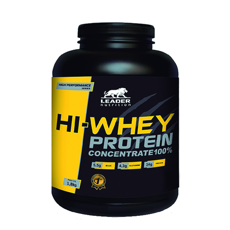 Hi-Whey Protein Concentrate 100% Baunilha 1.8Kg Leader Nutrition