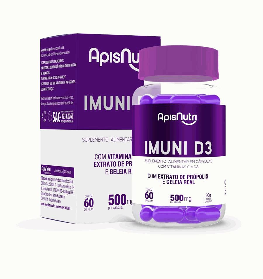 IMUNI D3 500mg (60 caps) - APISNUTRI