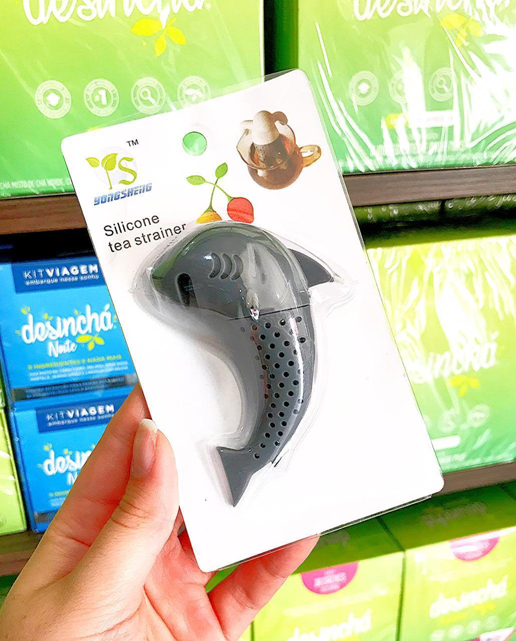 Infusor De Chá Tubarão (1 unidade na cor cinza)