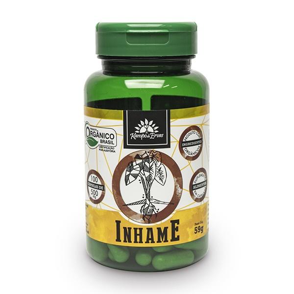 Inhame Puro - 100 Cáps De 500 Mg - Orgânico E Certificado