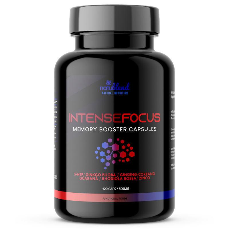 Intense Focus - Foco e Memória - 500mg 120 Cápsulas
