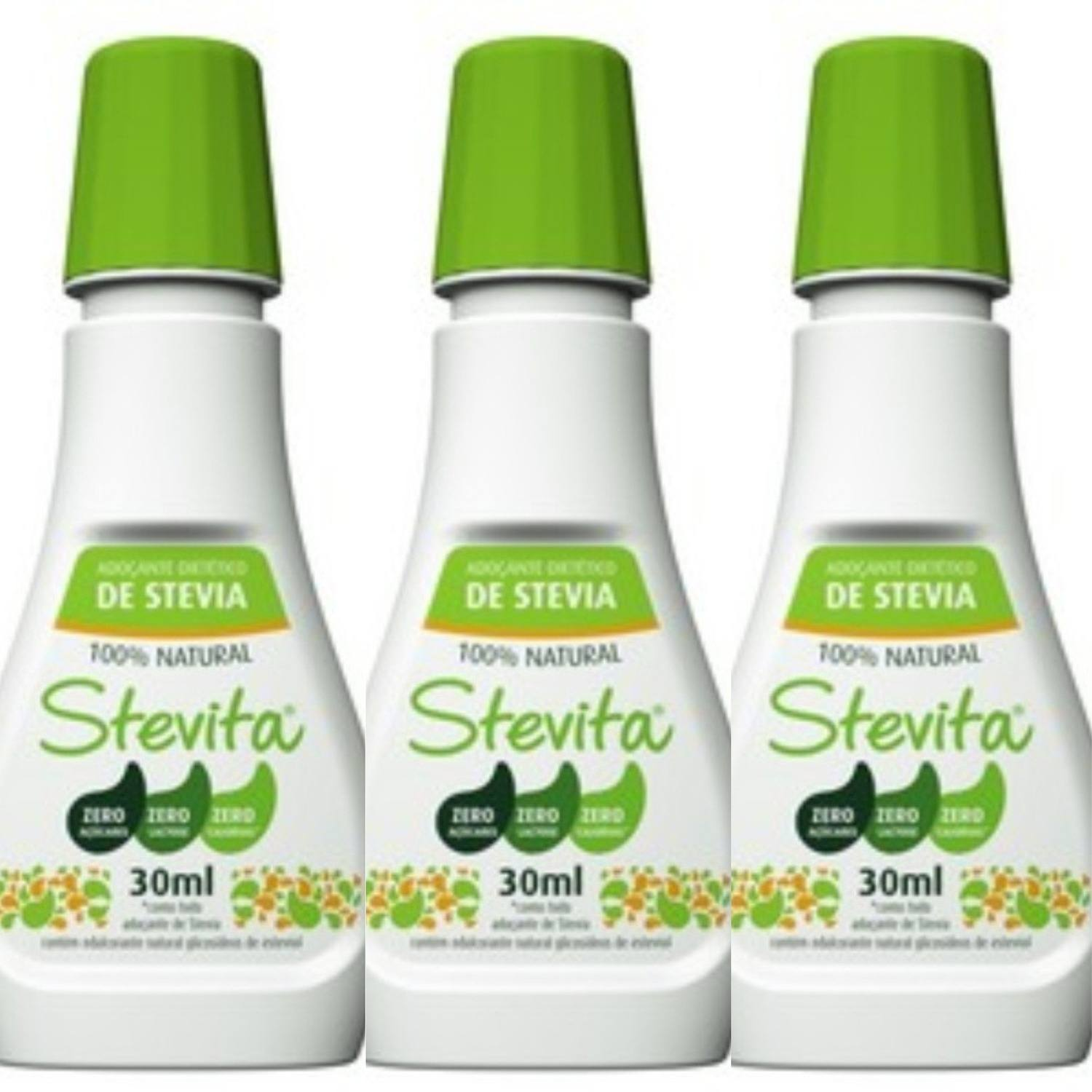 Kit 3 Adoçantes Dietético Stevita – 100% Natural – 30Ml