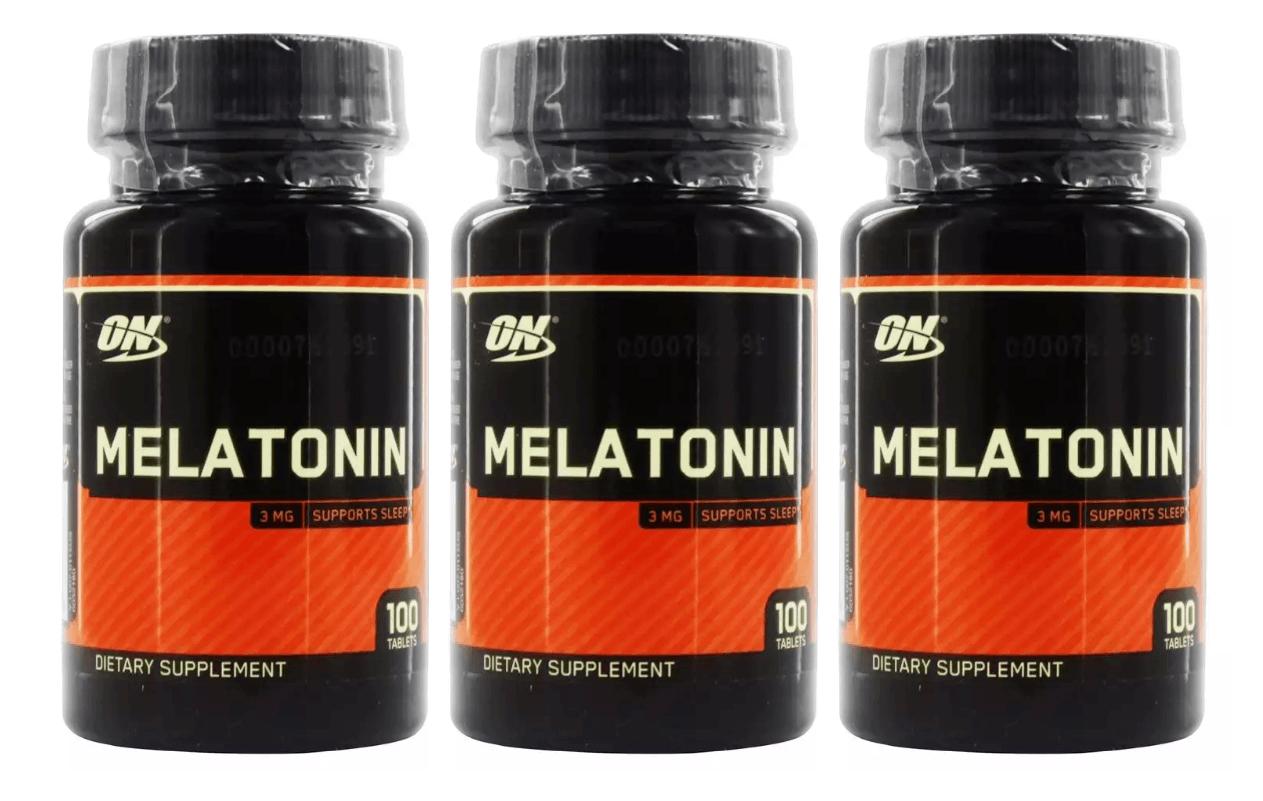 Melatonina 3mg - Optimum Nutrition KIT COM 3 (300 CÁPSULAS) PROMOÇÃO