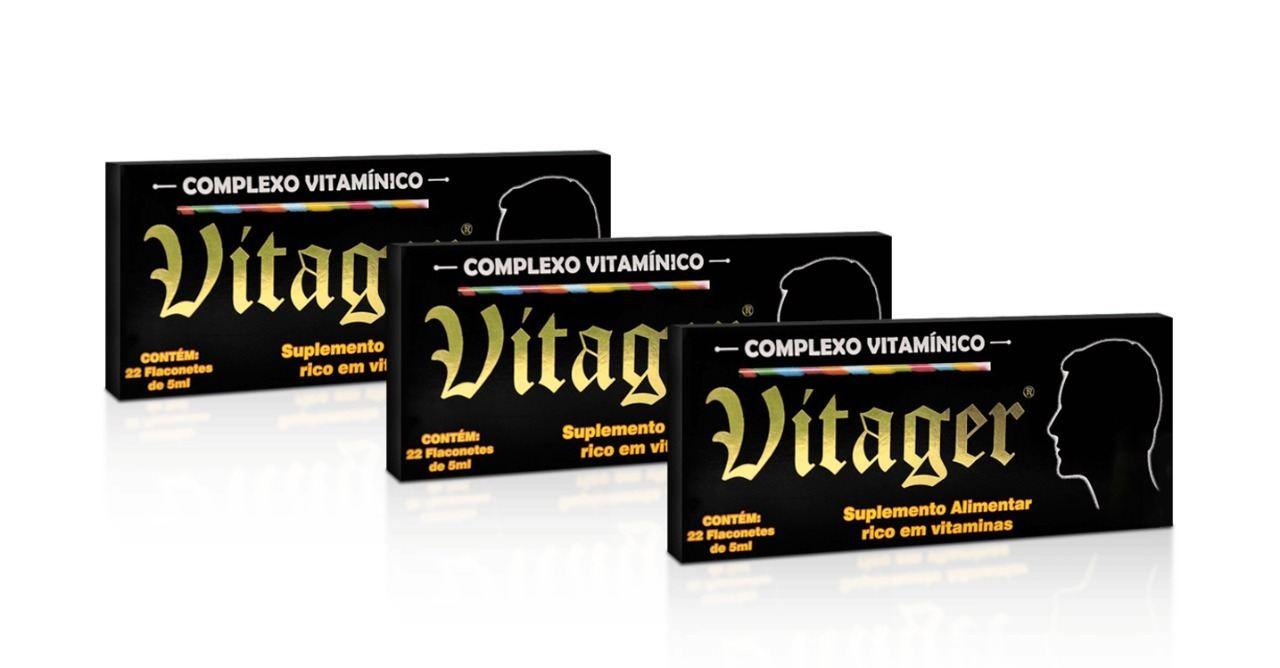 Kit 3 Vitager 22 Flaconetes de 5ml