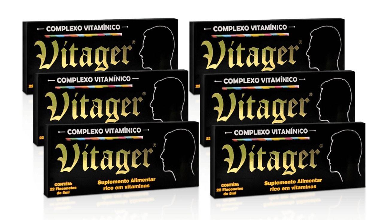Kit 6 Vitager 22 Flaconetes de 5ml