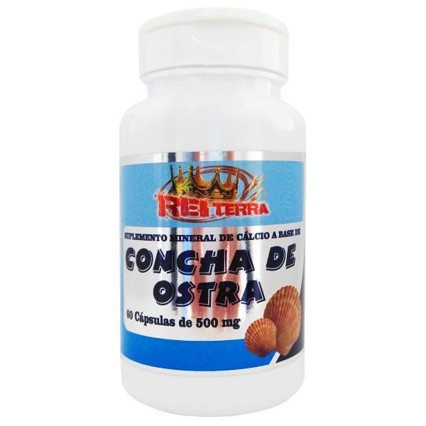 Kit C/5 Un Cálcio Da Concha De Ostra 600 Cápsulas 500mg Puro