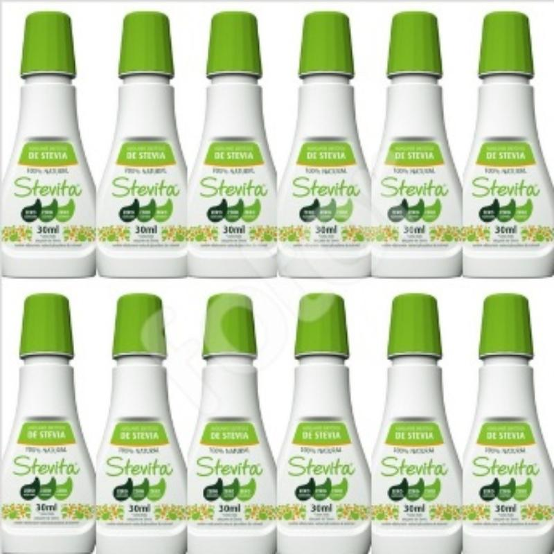 Kit Com 12 Adoçantes Dietético Stevita – 100% Natural – 30Ml