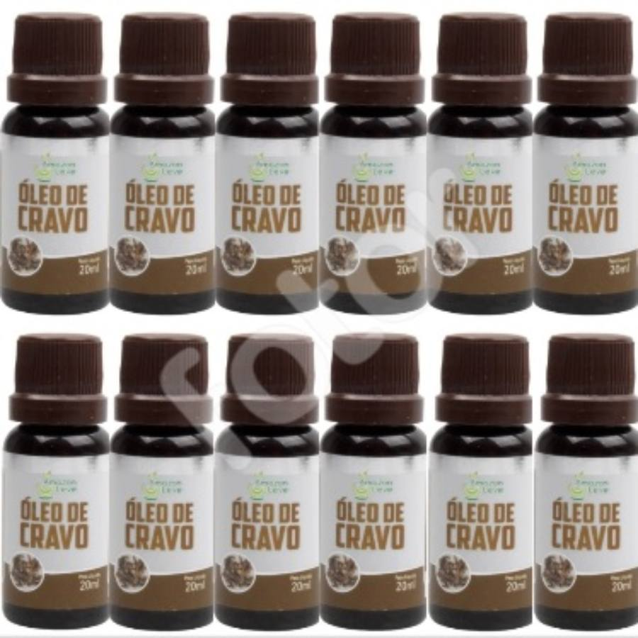 Kit Com 12 Óleos De Cravo 20Ml