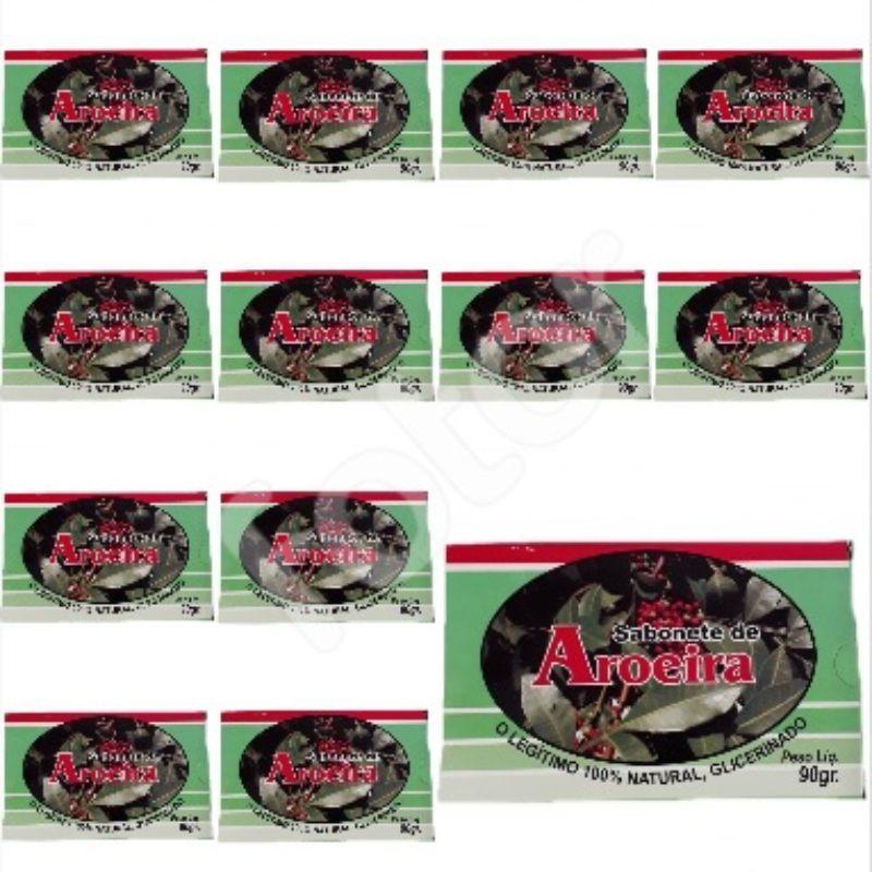 Kit Com 12 Sabonetes De Aroeira  - 100% Glicerinado - 90Gr