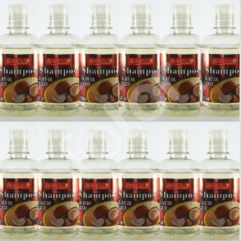 Kit Com 12 Shampoos Óleo De Coco - 500Ml