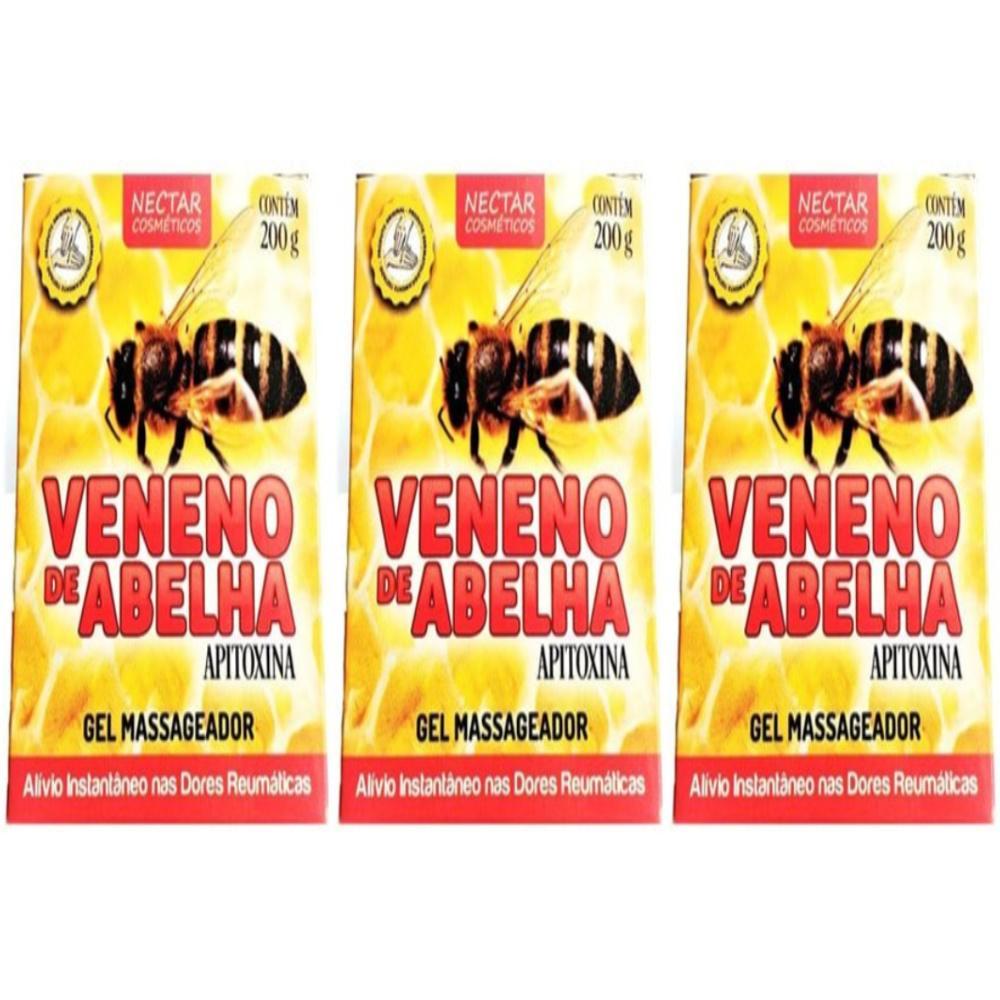 Kit Com 3 Cremes Veneno De Abelha - 200Gr
