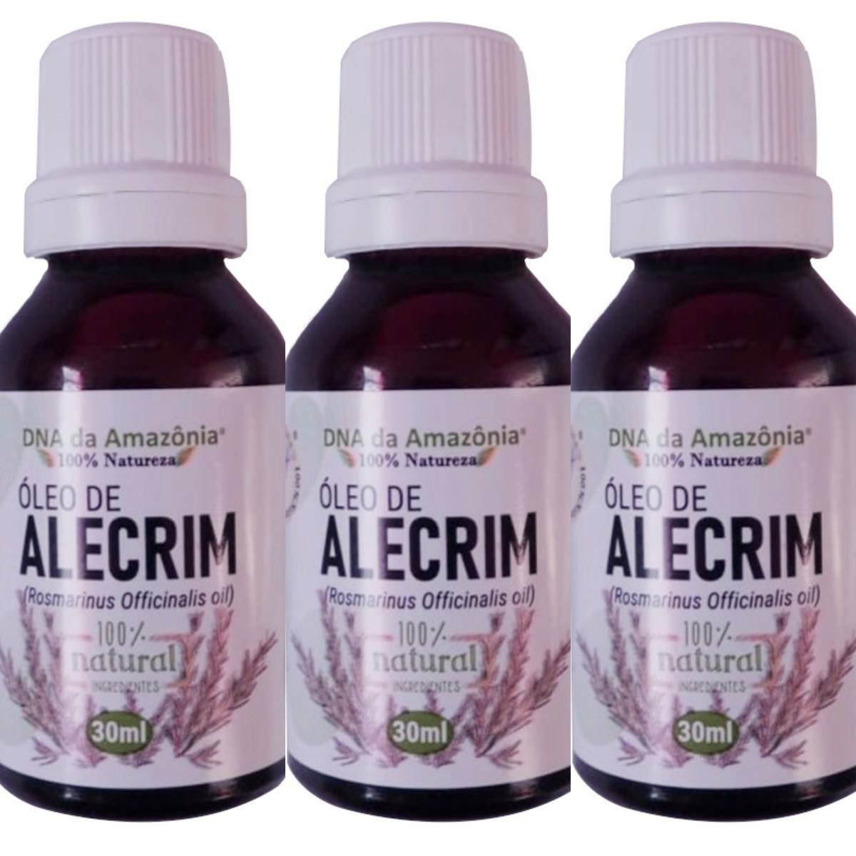 Kit Com 3 Óleos De Alecrim - 30Ml