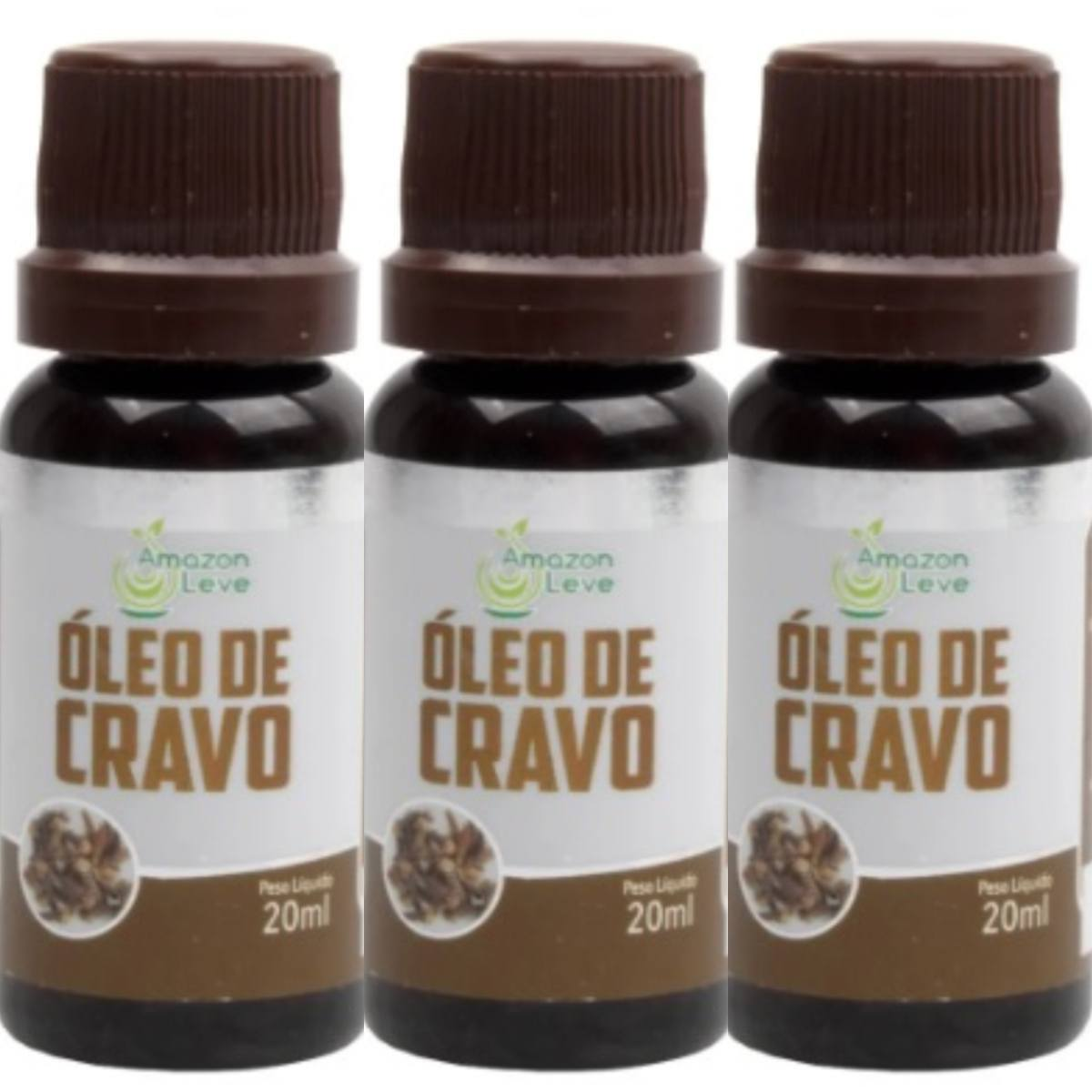 Kit Com 3 Óleos De Cravo 20Ml
