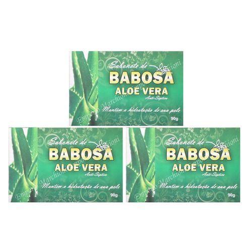Kit Com 3 Sabonetes De Babosa Aloe Vera - 90Grs
