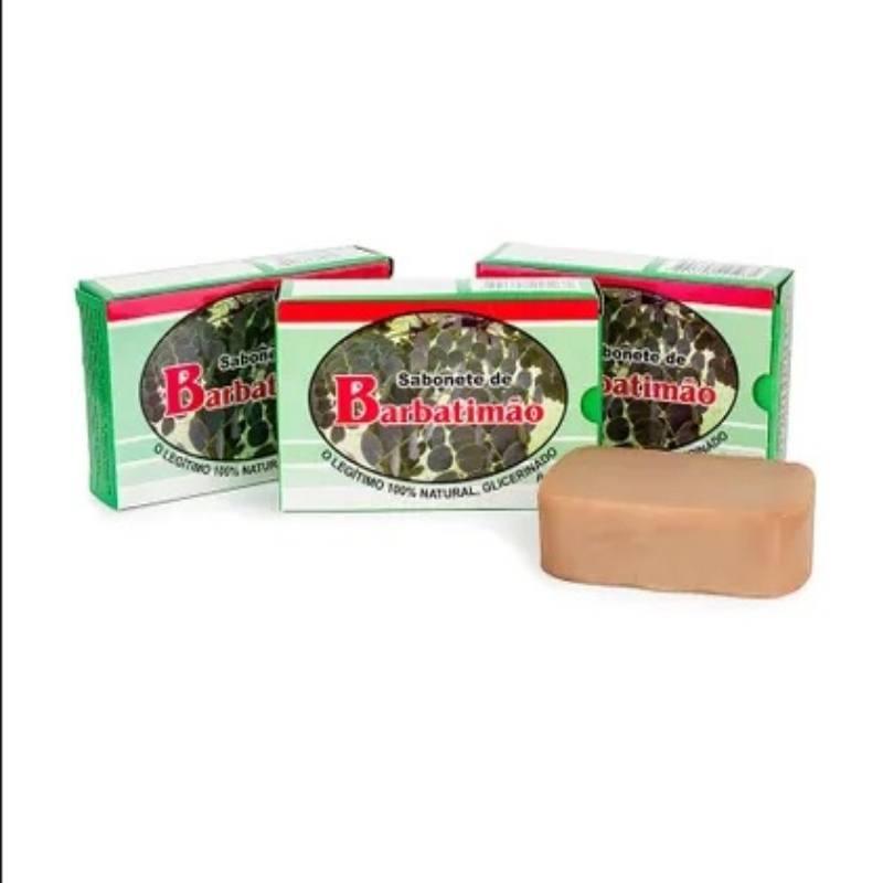 Kit Com 3 Sabonetes De Barbatimão- 100% Glicerinado - 90Gr