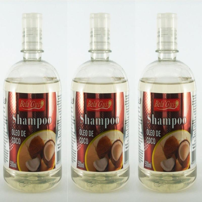 Kit Com 3 Shampoos Oleo De Coco 500Ml