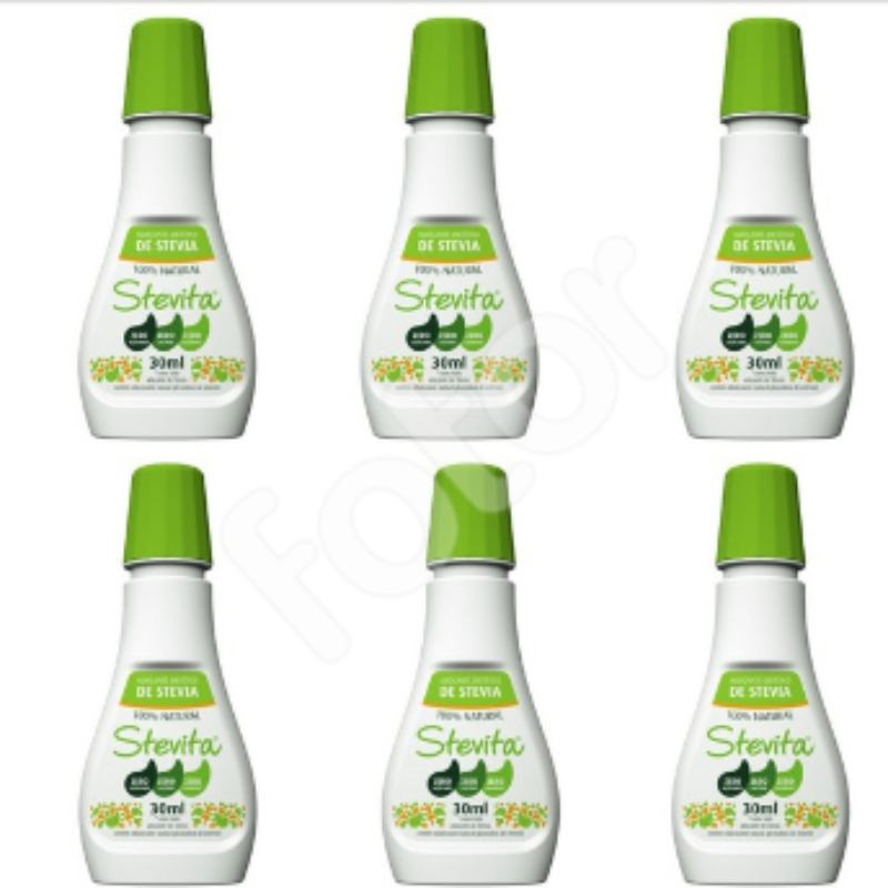Kit Com 6 Adoçantes Dietético Stevita – 100% Natural – 30Ml