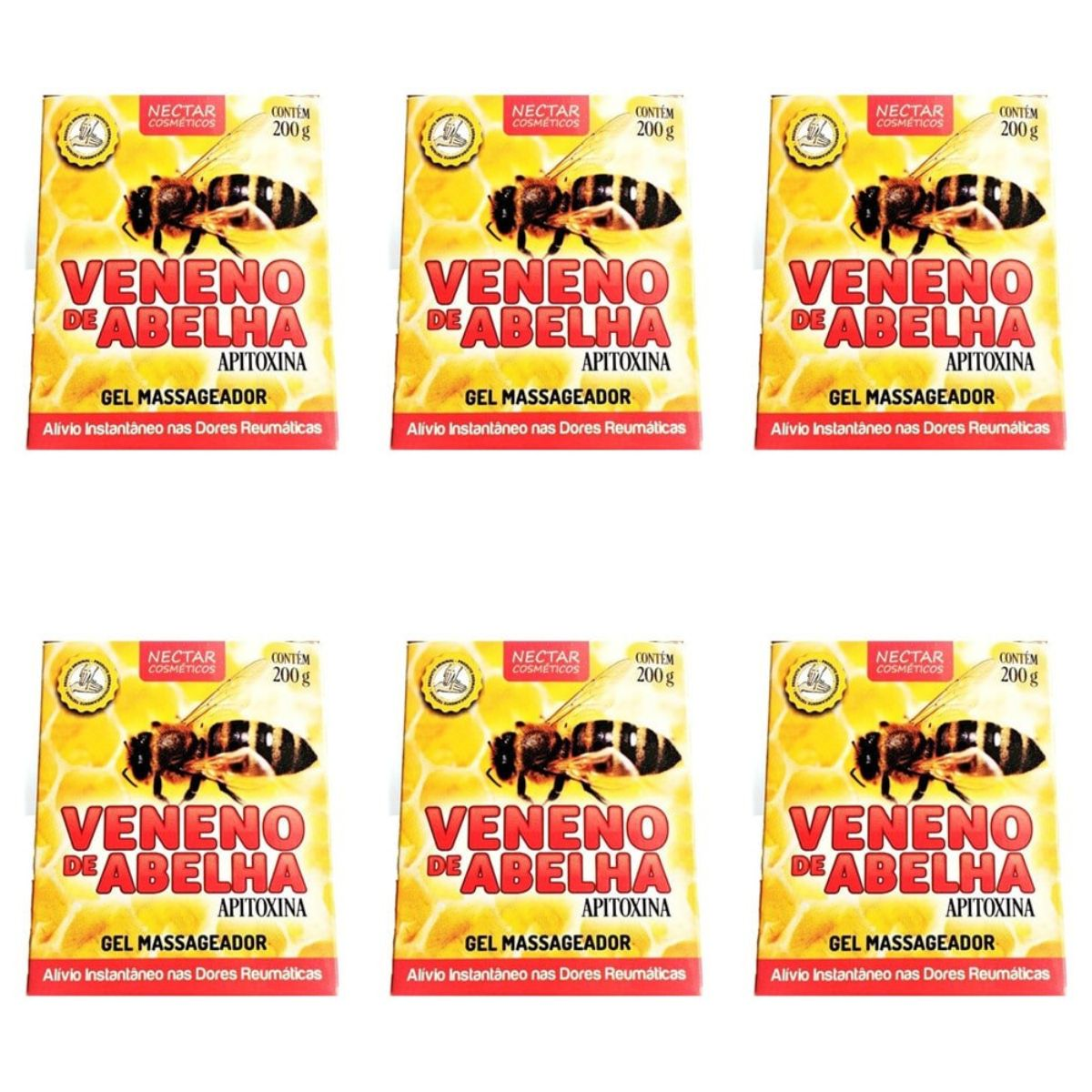 Kit Com 6 Cremes Veneno De Abelha - 200Gr