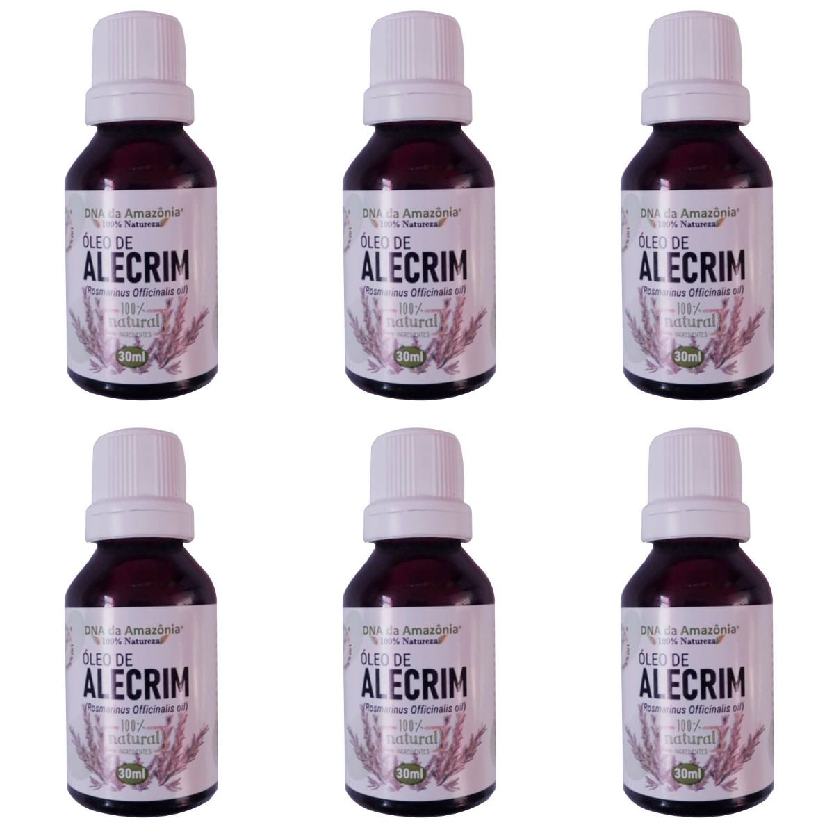 Kit Com 6 Óleos De Alecrim - 30Ml
