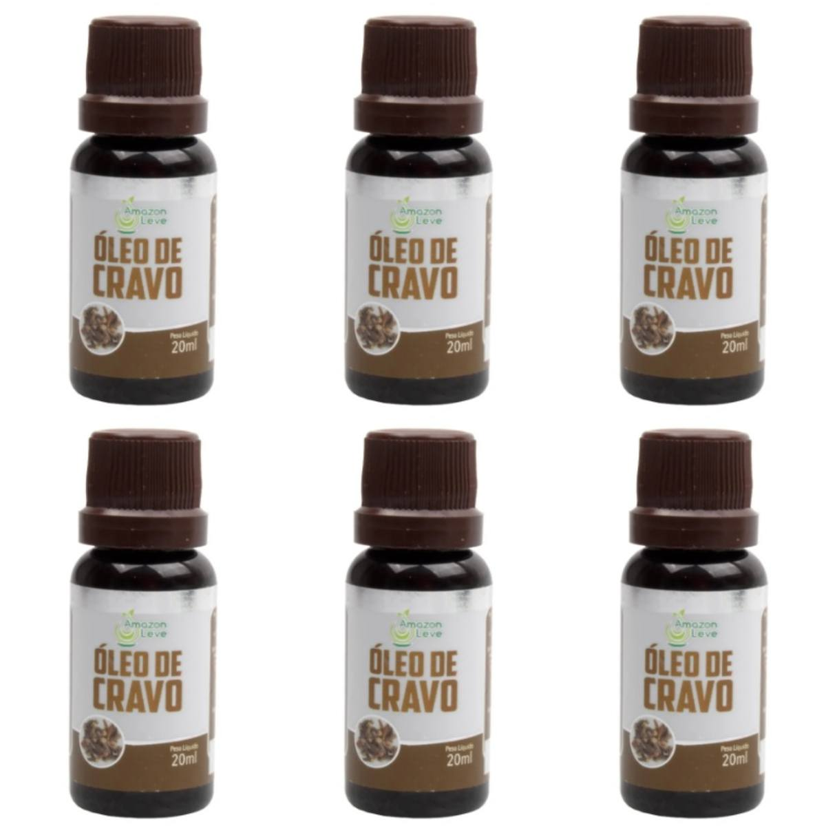 Kit Com 6 Óleos De Cravo 20Ml