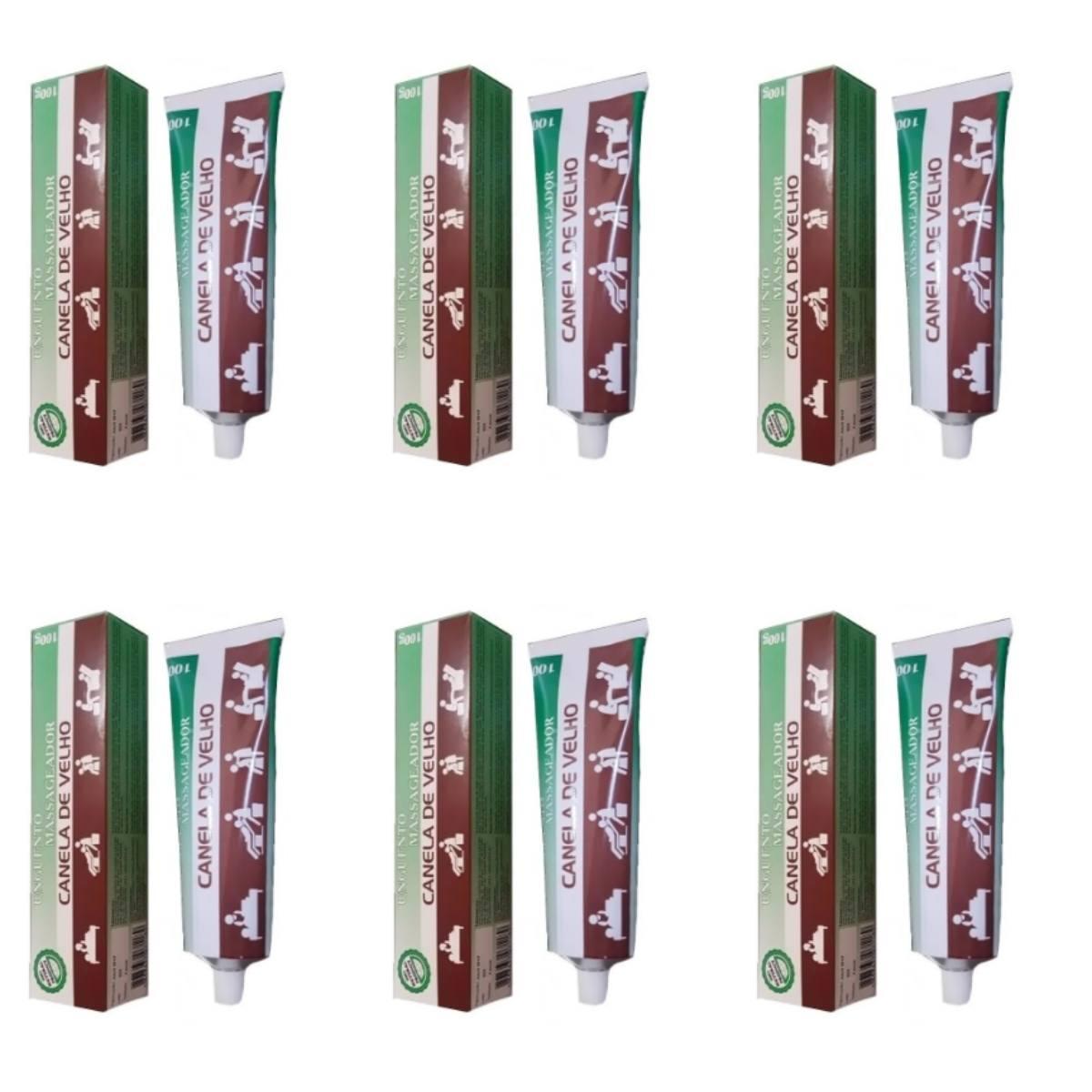Kit Com 6 Pomadas De Canela De Velho – 100Gr