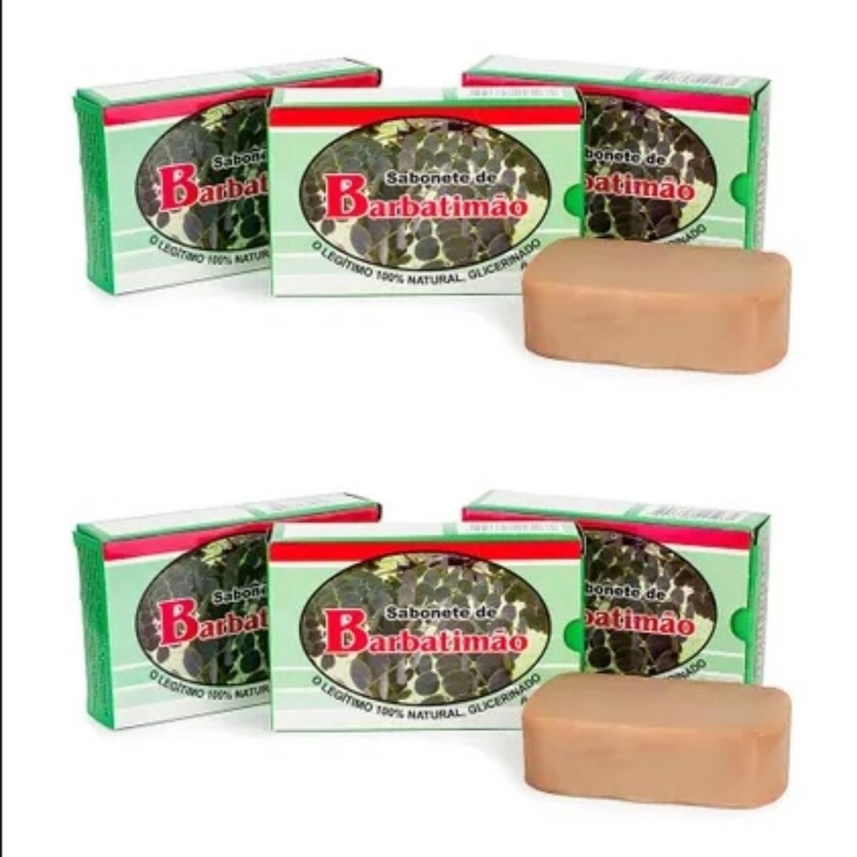 Kit Com 6 Sabonetes De Barbatimão- 100% Glicerinado - 90Gr