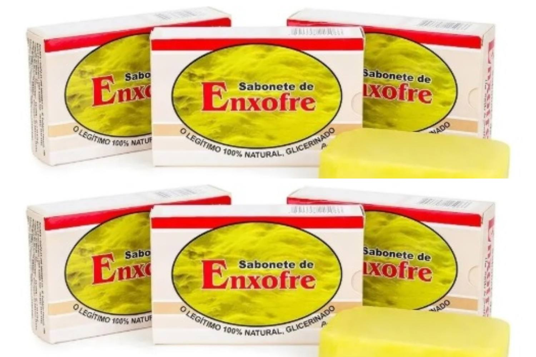 Kit Com 6 Sabonetes De Enxofre- 100% Glicerinado - 90Gr
