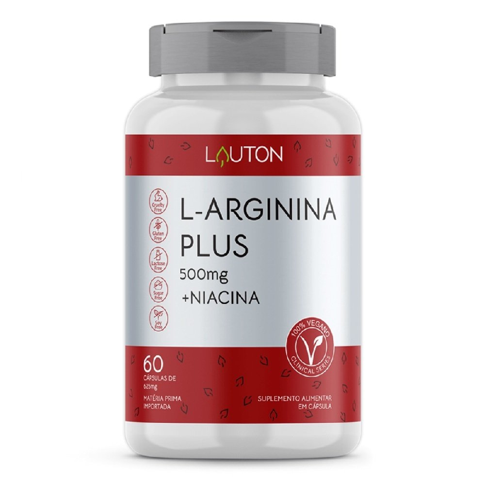 L Arginina 2000mg 60 Caps - Lauton Nutrition