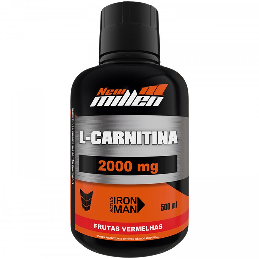 L-Carnitina 2000Mg 500Ml Frutas Vermelhas New Millen