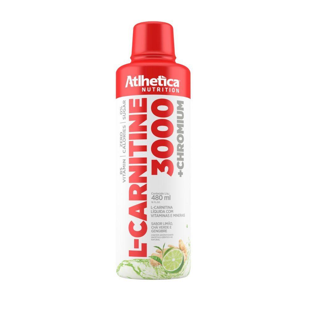 L-Carnitine 3000 480Ml Limao/Chá Verde/Gengibre Athletica Nutrition