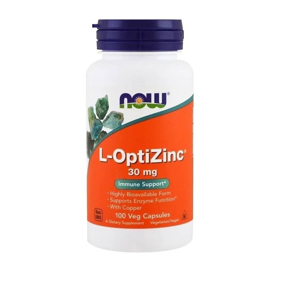 L-Optizinc 30 mg 100 Cáps. Now Foods