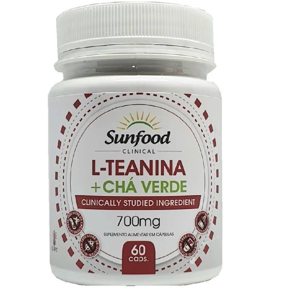 L Teanina com Chá Verde 60 Cáps. Sunfood